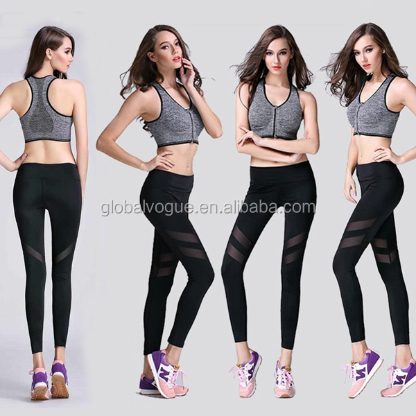Women's Sports Gym Yoga Workout Mesh Leggings,YOGA Running Sport Pants High Waist