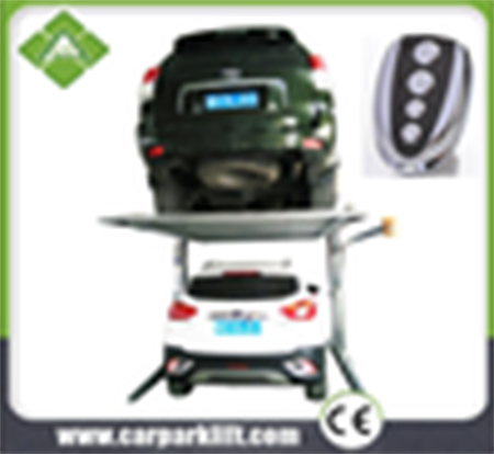 Auto hydraulic simple two cars parking equipment two post two level smart car parking lift home used car garage portable garage