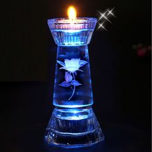 2016 Hot Sale Cheap Crackle Glass Votive Candle Holder Wedding Table Centerpieces