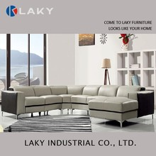 LK-LS1503 Hot sales soft leather corner sofa