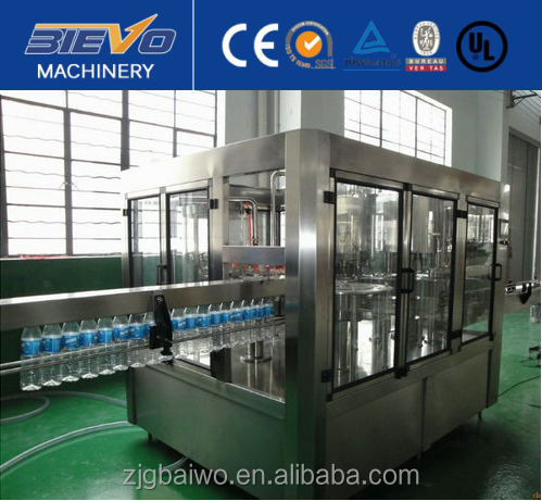 Fully automatic small scale mineral water production plant