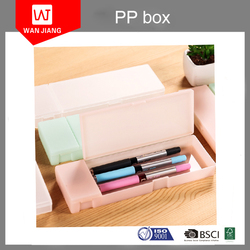 Wholesale clear plastic folding PP packing pencil box case for kids