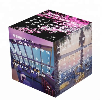 custom calendar 12 pictures photo print advertising gifts folding puzzle rubix toy magic cubes