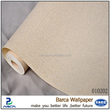 Plain vinyl project wallpaper for restaurant wall decoration (5 colors)