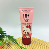 Cute pink hello kitty cosmetic BB cream body cream packaging 0.5oz 1.5oz