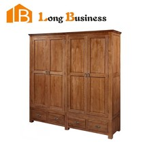 LB-JL3012 Export bedroom furniture oak solid wood bedroom wardrobe