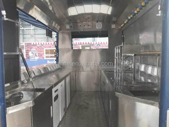 mobile street food catering bus fast food deck bus