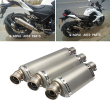 Motorcycle muffler exhaustTriangle Motor Exhaust pipe modified motorcycle large displacement skylin kawaski scorpio escape