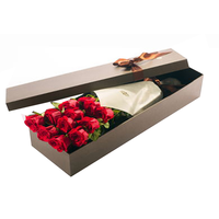 Custom printed color cardboard flower shipping boxes