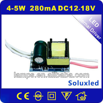 LED Driver with constant current power supply 5W