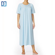 Women Sleepwear Long Sleeve Knee-length Sleeping Night Gown