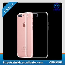 Phone case accessory back cover for iPhone 8 plus clear tpu case 0.6mm