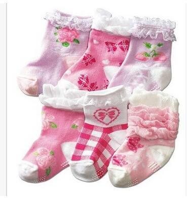 Ruffle Lace Newborn Baby Girl Socks Baptism 2017 Spring Calcetines Princess Meias Para Warm Ankle Socks