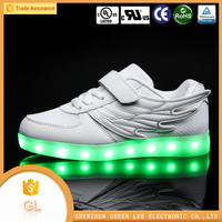 Hot sell footwear Walking running kids children shoes type Eco-friendly Material light up led shoes