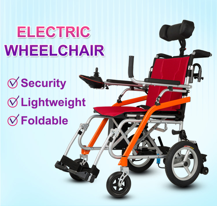 Hospital used magnesium alloy electric wheelchairs powered by lithium battery suitable for air travel D11