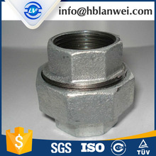 Galvanized Malleable Iron Pipe Fittings 340 conical gi pipe fittings union connector