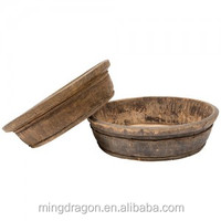Antique chinese recycle wood wash basin