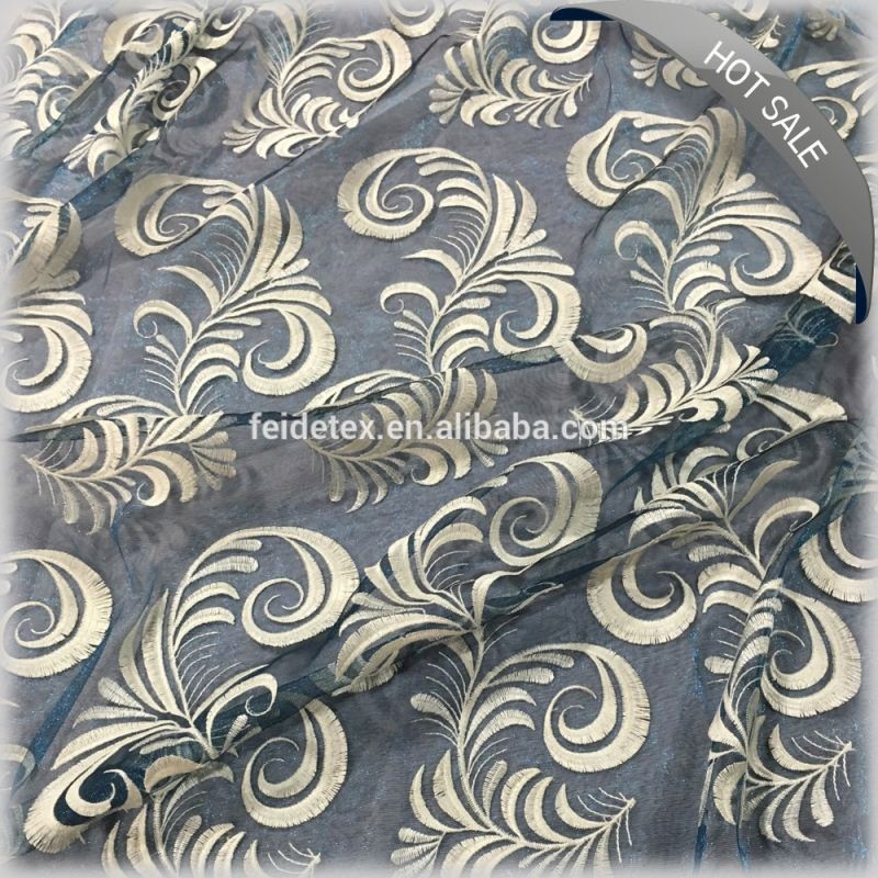 Wholsale Embroidery Lace Fabric, Embroidery Designs Fabric, Crewel Embroidery Fabric