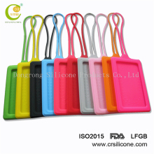 Bright-colored soft pvc silicone new suitcase baggage/ luggage tag traveling accessories