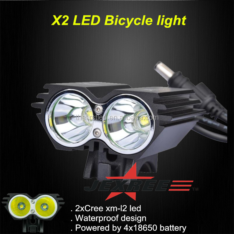 JEXREE 1800LM Waterproof Design cree xml t6 led bicycle light