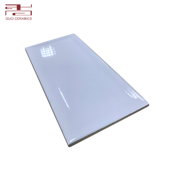 Simple design solid color glossy wall ceramic tile factory