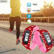 best quality China supplier Silicone Bracelet Pedometer Step Counter Calories Smart Pedometer Watch