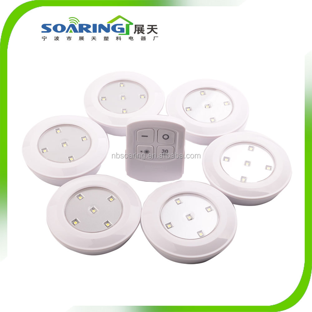 6pcs Wireless Battery-Operated LED Light Ceiling LED Light
