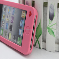 lovely care bares design silicone cover low price phone case