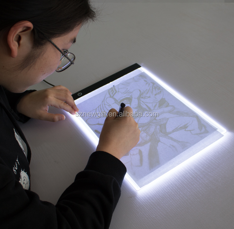 A4 Ultra Slim LED Drawing Light Box A4 LED Copy Board Tracing Light Pad For School and students