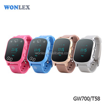 wearable bluetooth smart watch phone T58 2017 Wonlex new arrival elder adult kids gps tracker watch GW700