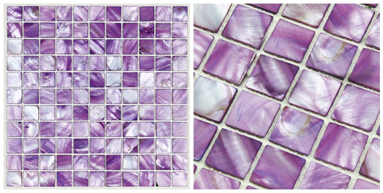 Decorstone24 Fast Delivery Seashell Mother Of Pearl Purple Mosaic Kitchen Backsplash Tile