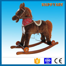 plush rocking horse on wheels with movement for kids