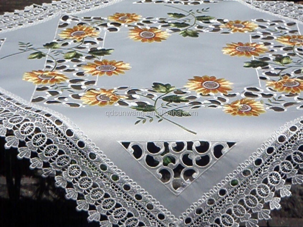 jacquard fabric lace tablecloth and tablerunner