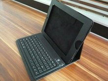 Flexible bluetooth keyboard for ipad with leather case