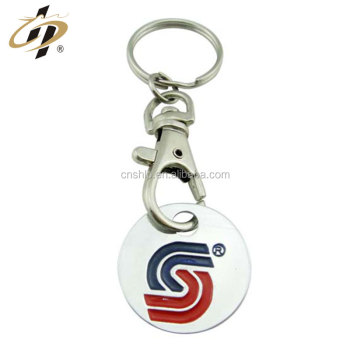 High Quality Custom metal souvenir own shopping cart keychain