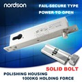 Fail secure sturdiness narrow door electric bolt lock with cylinder