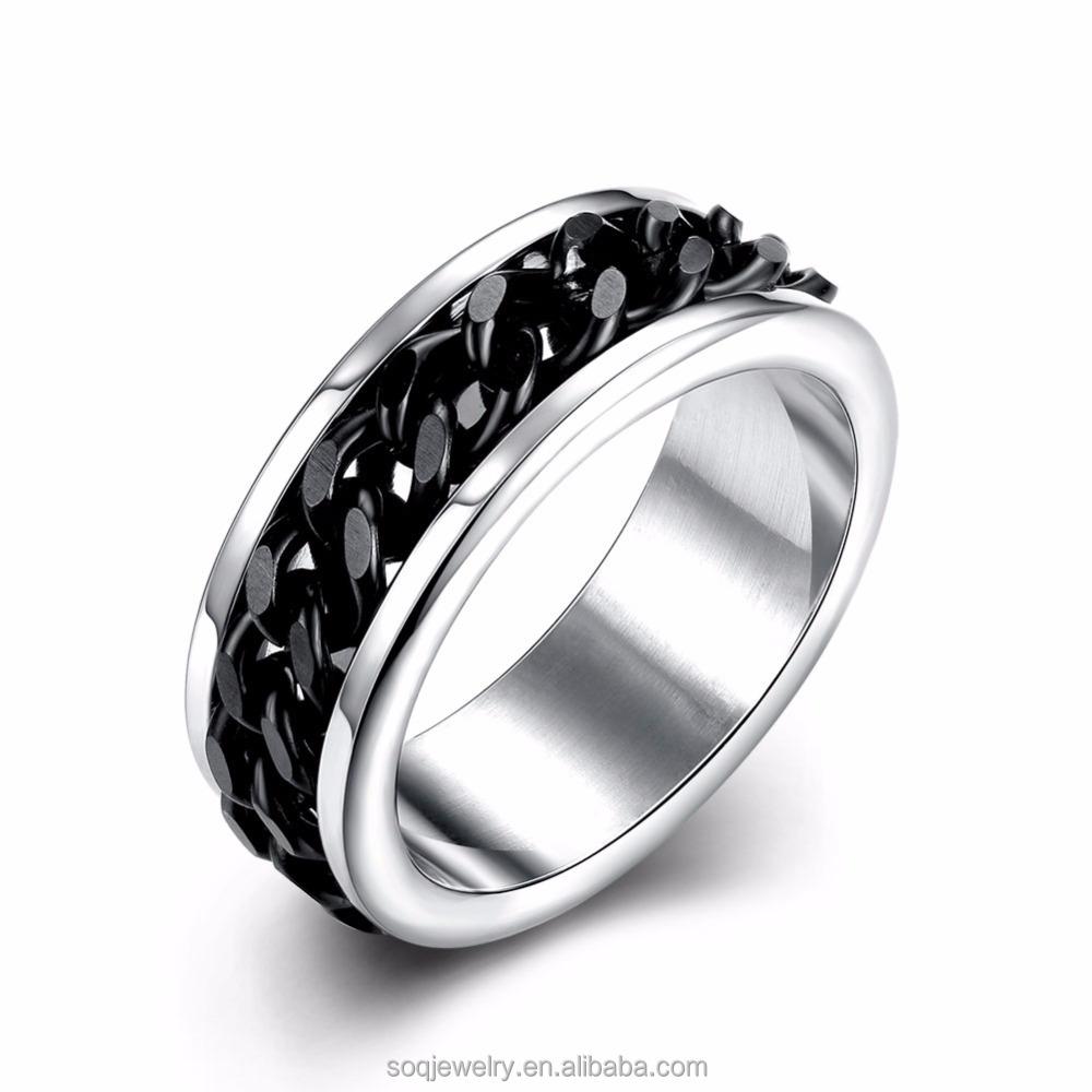 tungsten gear ring metal men's wedding band ring in comfort fit
