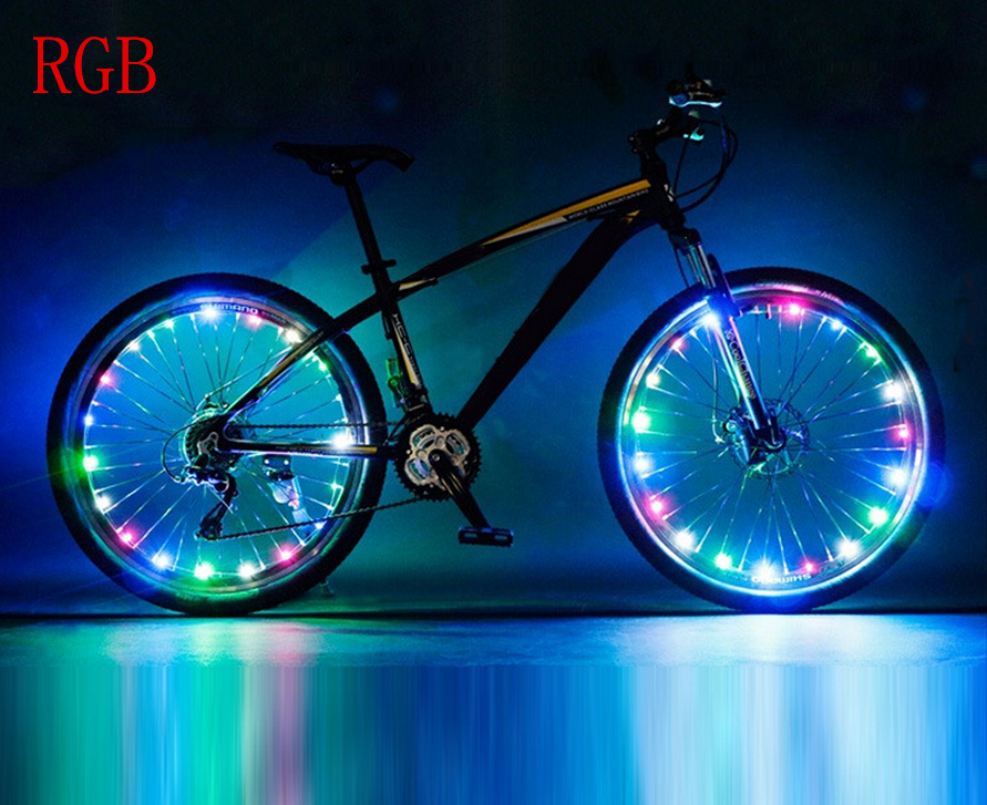 Rechargeable Bike Bicycle Wheel Light 20 LEDs Waterproof For 20 Inches And Above Bike Wheel