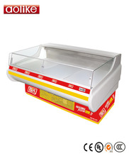 Supermarket used meat display refrigerator deli refrigerated showcase counter