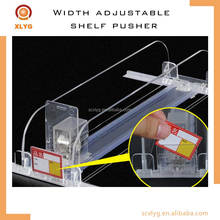 PVC/PC/PP transparent shelf divider pusher tray for cigarette/bottle/milk/juice