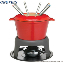 China supplier cute fondue set for party good quality cast iron cookware for sale