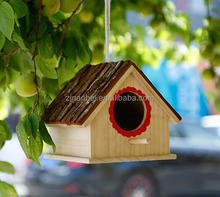Custom hanging wooden bird house eco-friendly parrot house
