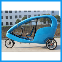 Assisted electric rickshaw tricycle 3 wheel with canopy tricycle