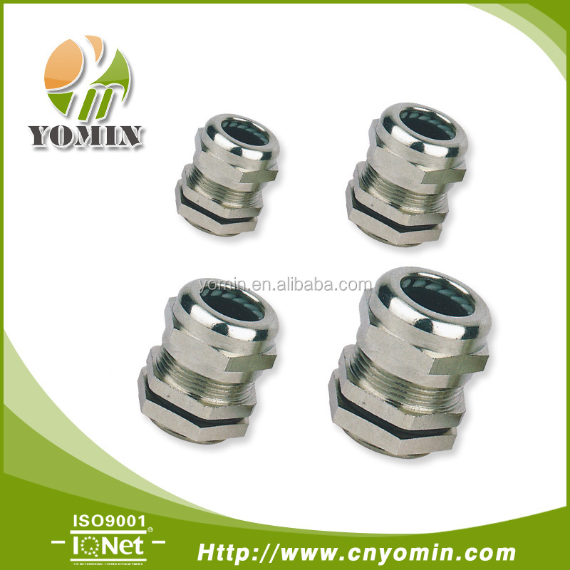 Silicon Rubber Insert IP68 Waterproof Metal Cable Gland