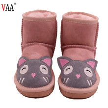 CF-47 Winter Factory Low Price Waterproof Children Snow Boots, Chamois Kids Short Winter Boots Shoes