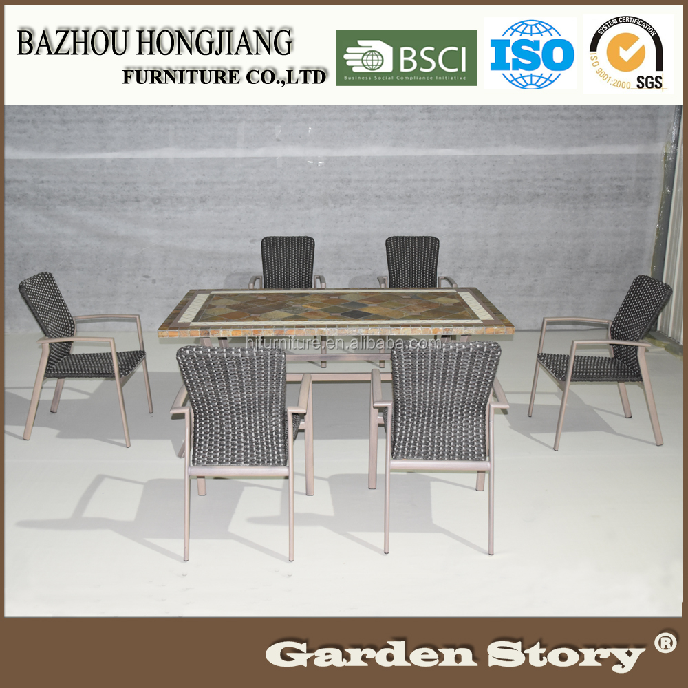 2017 New Design PE Rattan Patio Garden Dining Set