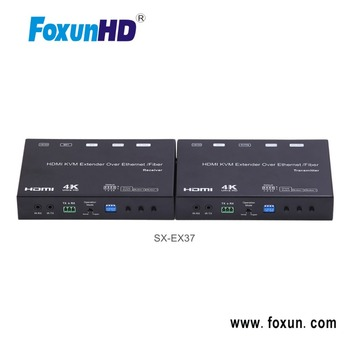 Foxun SX-EX37 120m HDMI+USB KVM 4K@30Hz Extender Over IP/Fiber With RS232
