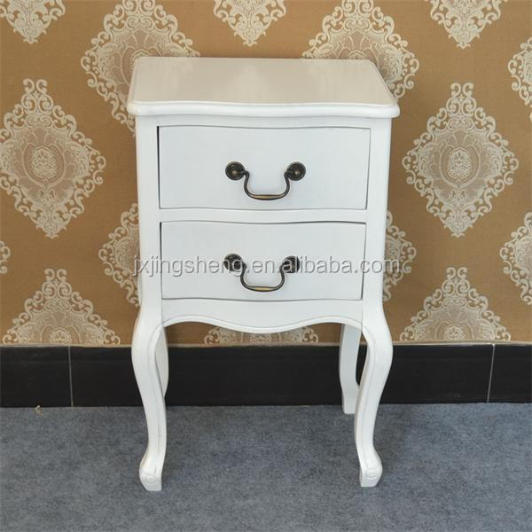 home furniture white modern night stands with 2 drawers