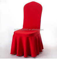 Cheap Spandex Chair Cover Ruffled Wedding Chair covers