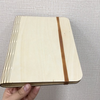 student diary notebook wood soft cover paper B5 with wood cover